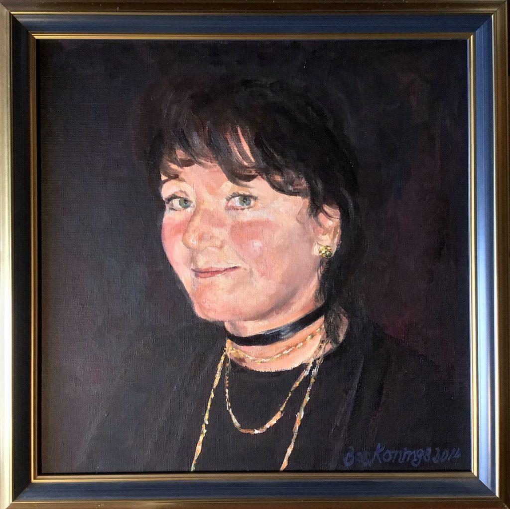 Anke Brokstra. Geschilderd door/painted by haar echtgenoot, de schilder Bas Konings.